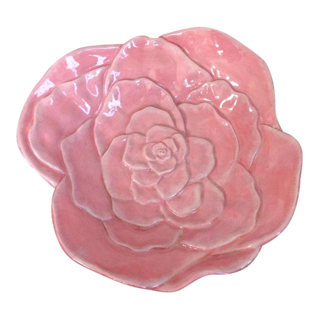 Vintage Rose Flower Dish For Sale