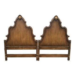 Hollywood Regency Shell Twin Headboards - A Pair