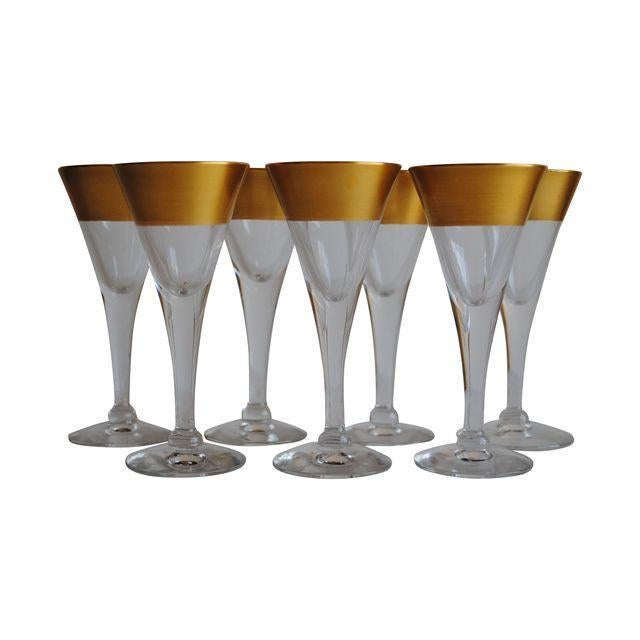 Dorothy Thorpe Cordial Glasses - Set of 7 - Image 1 of 4