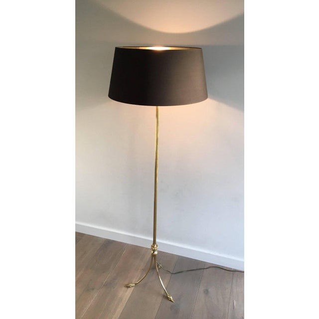 1940s French Brass Floor Lamp by Maison Jansen - Image 10 of 11