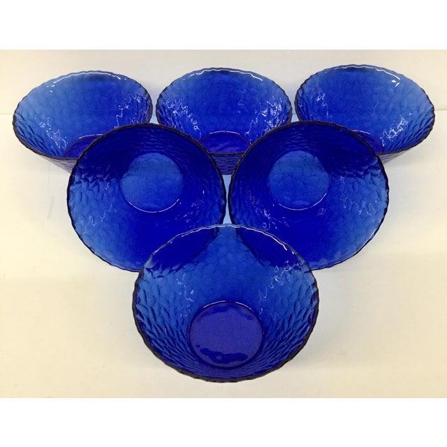 1960s Vintage Cobalt Blue Bowls - Set of 6 For Sale - Image 11 of 11