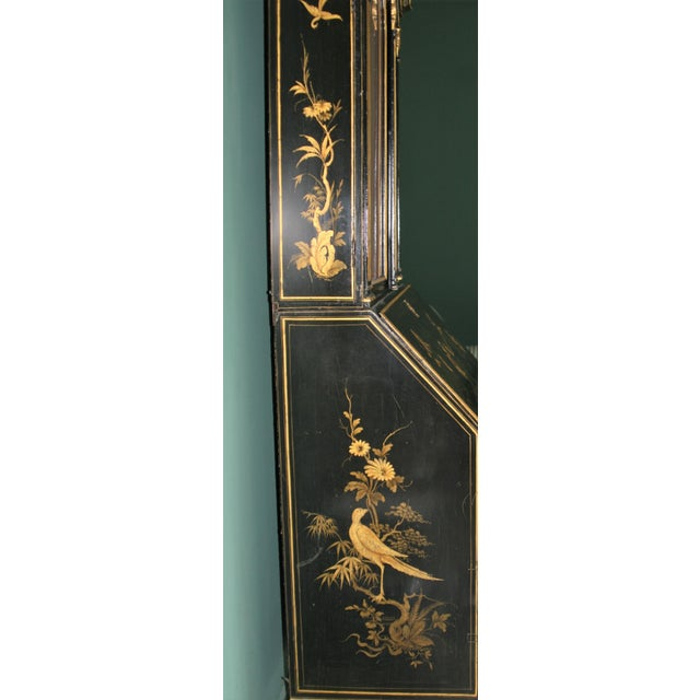 1900s Queen Anne Style Chinoiserie Gold Secretary Desk For Sale - Image 10 of 13