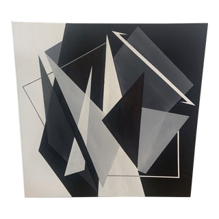Contemporary Modernist Geometric Acrylic Painting by Ross Severson For Sale