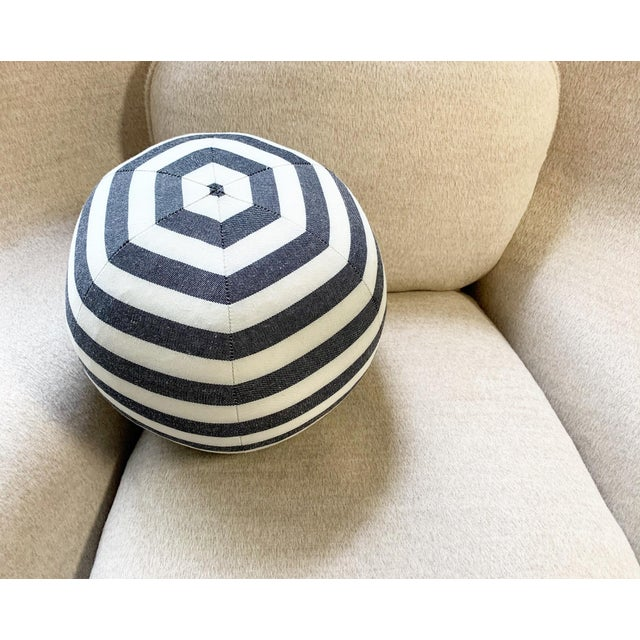 "Contemporary Forsyth Kule Stripe Ball Pillow, 12"" For Sale - Image 3 of 6"