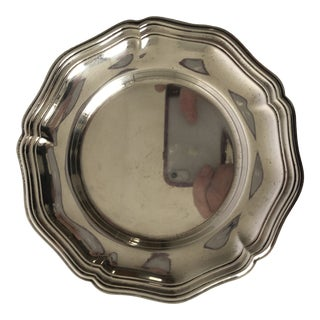Vintage Silverplate Articulated Rim Wine Coaster For Sale