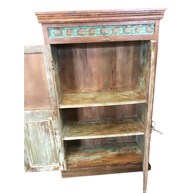 1920s Antique Carved Wood Armoire For Sale - Image 4 of 6