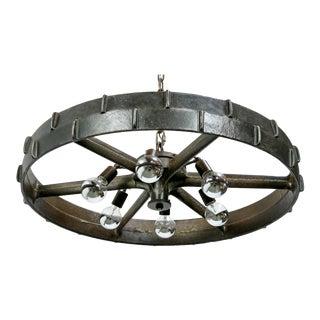 Industrial Steel Wheel Chandelier