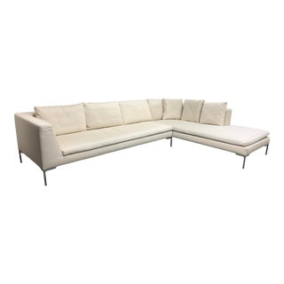 B&b Italia Antonio Citterio Charles Slipcover Two-Piece Sectional For Sale
