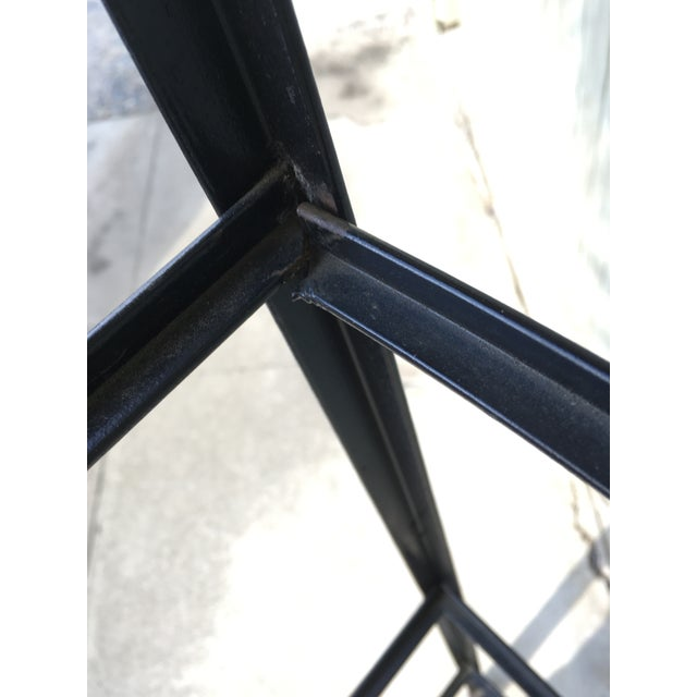 Black Frederic Weinberg Clear Glass Wrought Iron Shelf For Sale - Image 8 of 11