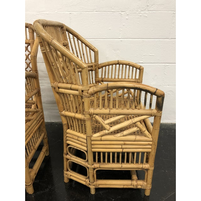 Prime 1970S Vintage Rattan Bamboo Brighton Style Chairs A Pair Download Free Architecture Designs Rallybritishbridgeorg