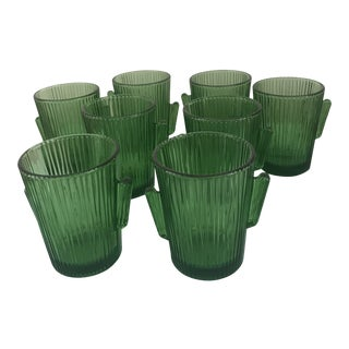 Libbey Vintage Glass Cactus Tumblers - Set of 8 For Sale