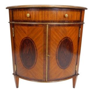 Maitland-Smith Inlaid Mahogany Corner Cabinet For Sale