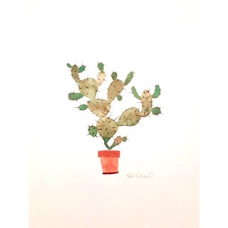 Fall Cactus Watercolor For Sale