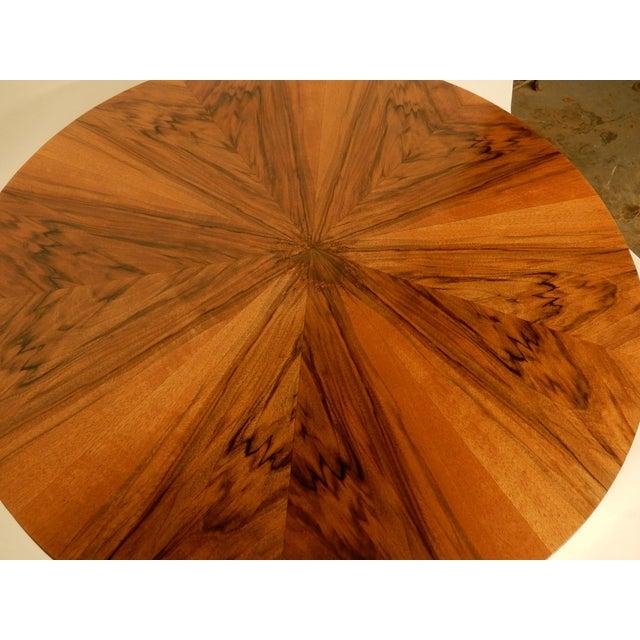 Walnut Round Art Deco Walnut Side Table For Sale - Image 7 of 7