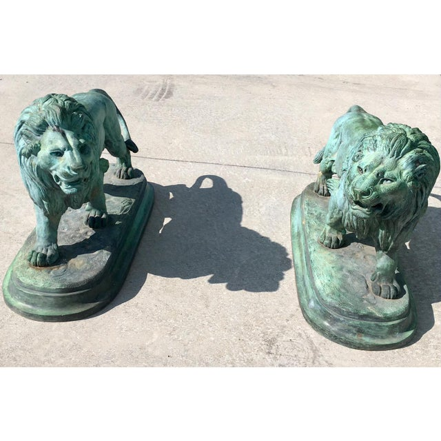 Paul-Edouard Delabrierre Bronze Lions - a Pair For Sale - Image 11 of 13