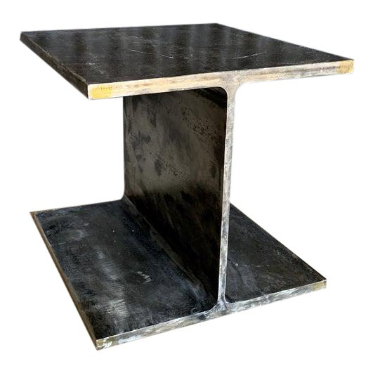 1970s Ward Bennett Steel I Beam Occasional Table For Sale