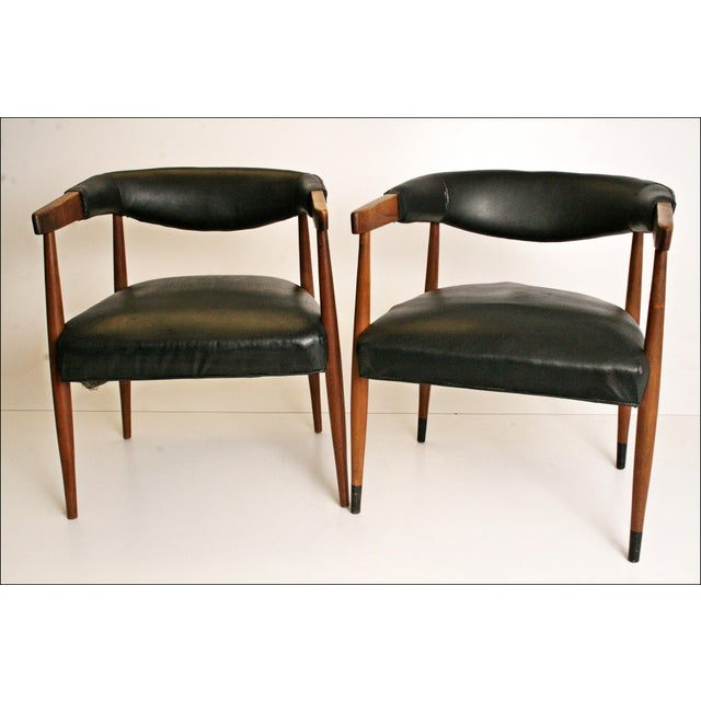 Danish Modern Accent Chairs - Pair - Image 3 of 11