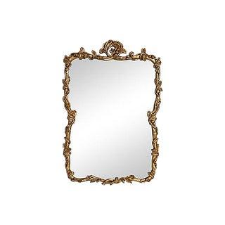 Floral Framed Gilt Mirror For Sale