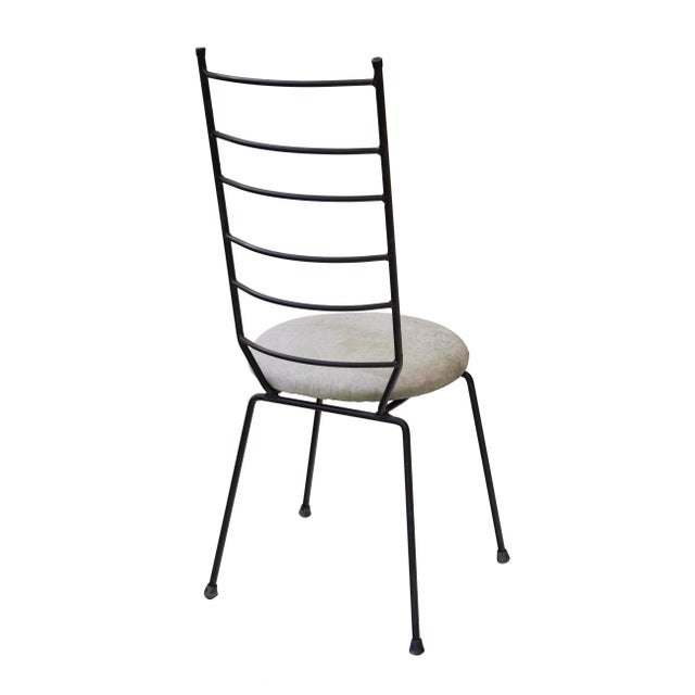 Black Iron Ladder Back Patio Dining Chairs, S/4 For Sale - Image 8 of 9
