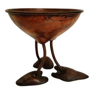 Mid-Century Hand-Hammered Copper Art Bowl
