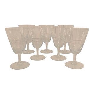 Rosenthal Rose Pattern Crystal Glasses - Set of 7 For Sale
