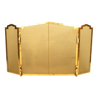 American Mission Brass Fire Screen For Sale