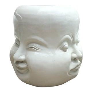 Four Face Ceramic Stool