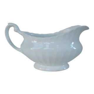 J&g Meakin England Classic White Gravy Boat For Sale