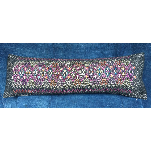 Antique Intricate Handwoven Tribal Textile Pillow - Image 2 of 9