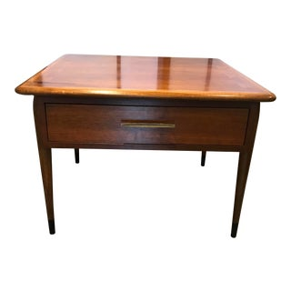 "Lane Acclaim Mid-Century Modern Walnut ""Commode"" Square Side Table For Sale"
