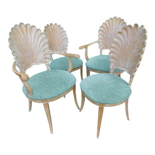 Venetian Shell Back Chairs - Set of 4 For Sale