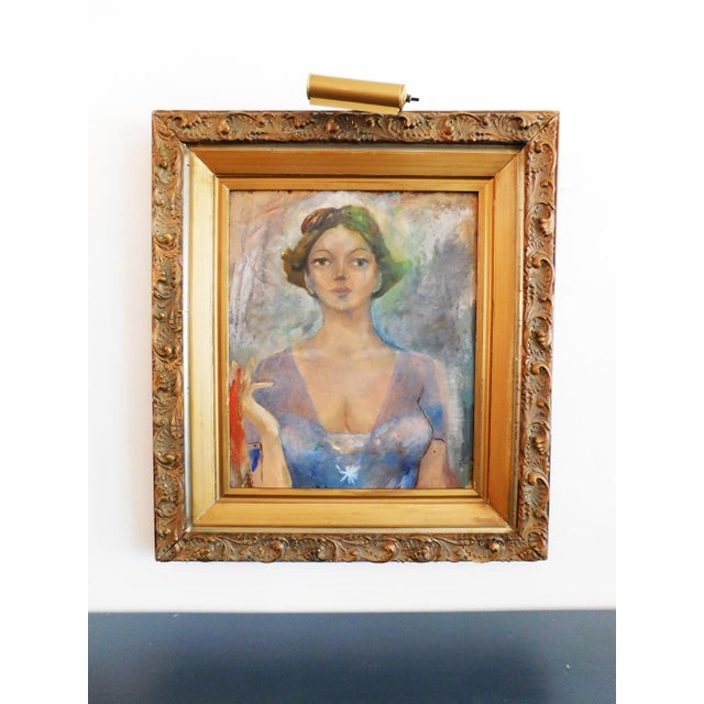 Woman in Gold Painting For Sale - Image 4 of 4