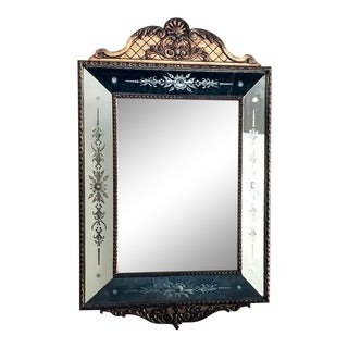 Antique Italian Venetian Gilded Mirror For Sale