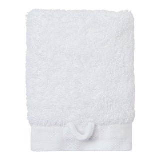 Cumulus Terry Wash Towel in White For Sale