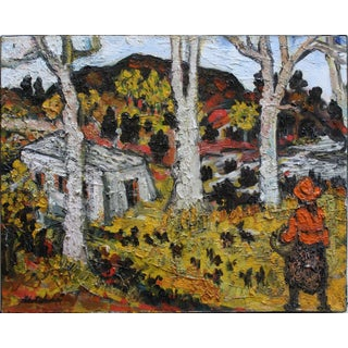 20th Century Impressionist Country Landscape Painting by Sacha Moldovan For Sale