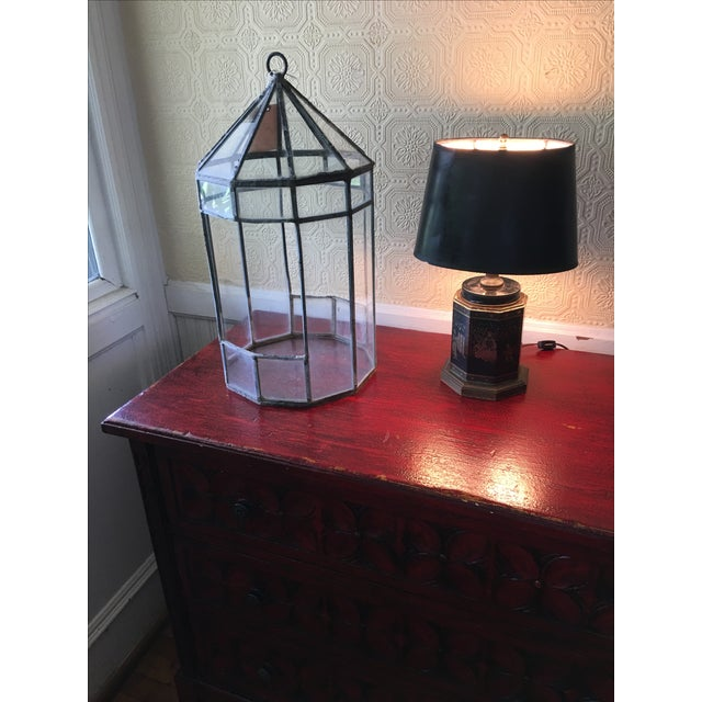 Early English Tea Canister Lamp For Sale - Image 5 of 6