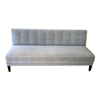 Mitchell Gold Bob Williams Modern Gray Velvet Sofa For Sale