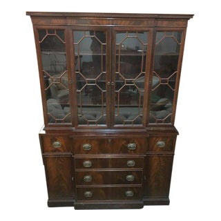 Traditional Wooden China Hutch