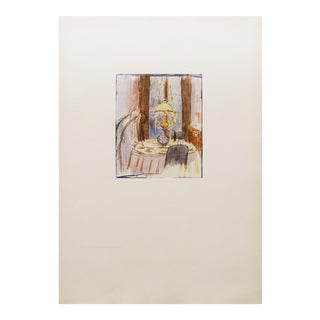 """Rare 1959 Pierre Bonnard, """"The Yellow Lamp"""" Hungarian Lithograph For Sale"""
