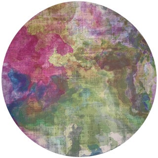 """Nicolette Mayer Impressionism Richesse 16"""" Round Pebble Placemats, Set of 4 For Sale"""