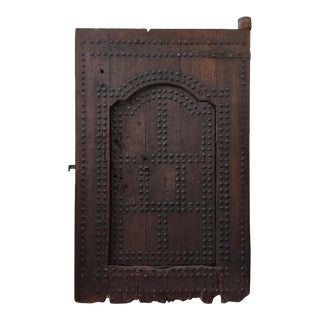 19th Century Large Moroccan Ryad Studded Moorish Antique Door For Sale