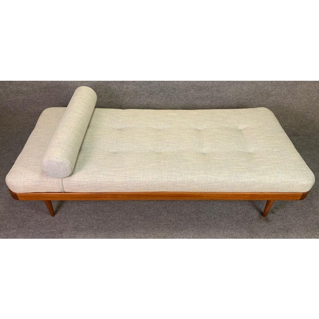 Here s a beautiful Scandinavian Modern daybed with a teak frame that was recently imported from Denmark to California...