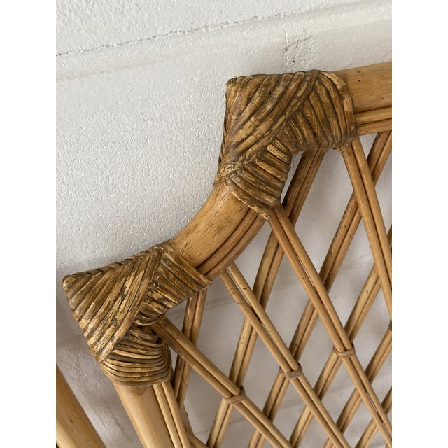 Late 20th Century Vintage Rattan Headboards- a Pair For Sale - Image 5 of 13