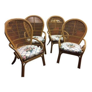 Vintage Bent Wood Sunroom Chairs - Set of 4 For Sale