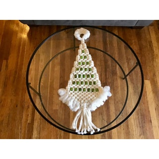 1970s Vintage Macrame Christmas Tree Wall Hanging Preview