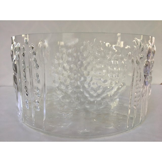 A beautiful, whimsical mid-century modern glass bowl from Finland. It was designed by renowned designer Oiva Toikka in the...