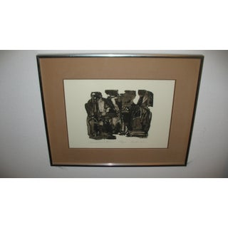 """Abstract """"Conversation"""" Limited Edition Framed Print Signed by John Lee For Sale"""