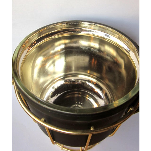 Vintage 1950s Ernest Sohn Creations Matte Black and Gold Ice Bucket For Sale In Chicago - Image 6 of 10