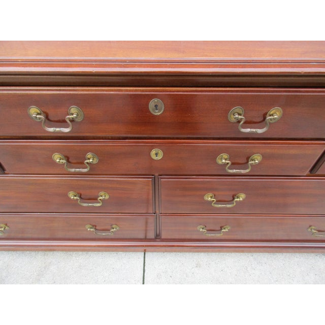 Chippendale Style 10-Drawer Dresser -By National Mt. Airy For Sale - Image 6 of 11