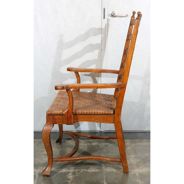 Ladder Back Dining Chairs - Set of 6 For Sale - Image 4 of 9